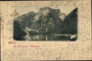 Ak Prags Braies Südtirol, Partie am Pragser Wildsee