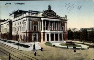 Ak Brno Brünn Südmähren, Stadttheater
