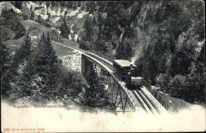 Ak Kanton Luzern, Rigibahn auf der Schnurtobelbrücke