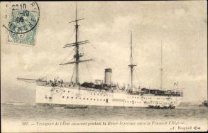 Ak Transport de l'Etat assurant pendant la Grève le service entre la France et l'Algérie