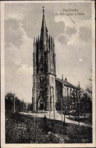 Ak Königsee Rottenbach in Thüringen, Kirche, Totalansicht