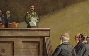 Künstler Ak Kaiser Wilhelm II., Jubiläum der Deutschen Landwirtschaftsgesellschaft