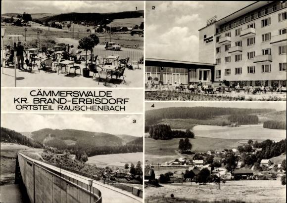 Ak Rauschenbach Cämmerswalde Neuhausen im Erzgebirge, FDGB Erholungsheim Raul Gruner, Talsperre
