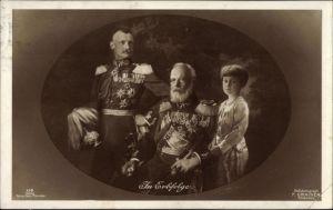 Ak In Erbfolge, König Ludwig III. von Bayern, Kronprinz Rupprecht von Bayern, Uniformen, Orden