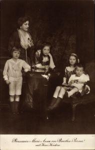 Ak Maria Anna von Österreich-Teschen, Prinzessin von Bourbon Parma, Kinder