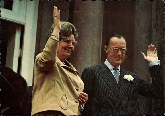 Ak Koninginnedag Paleis Soestdijk 30 April 1968, Königin Juliana der Niederlande, Prinz Bernhard