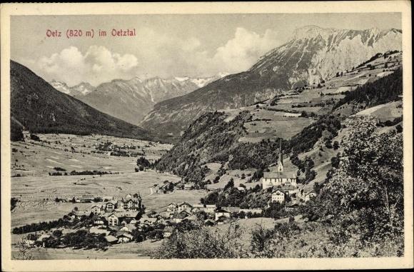 Ak Oetz in Tirol Österreich, Ort im Oetztal