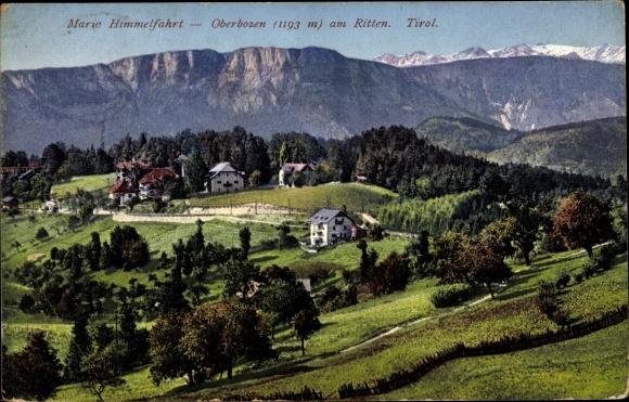 Ak Oberbozen am Ritten Südtirol, Maria Himmelfahrt