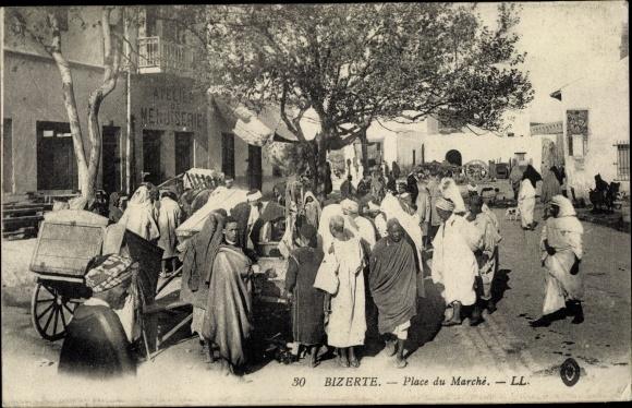 Ak Bizerte Tunesien, Place du Marche, Araber, Maghreb