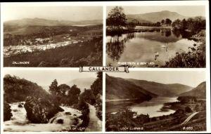 Ak Callander Stirling Schottland, River Teith, Ben Ledi, Loch Lubnas, Falls of Leny