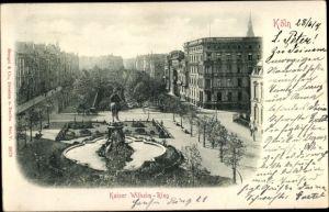 Relief Ak Köln am Rhein, Kaiser Wilhelm Ring