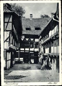 Ak Braunschweig in Niedersachsen, Alter Hof in der Langedammstraße
