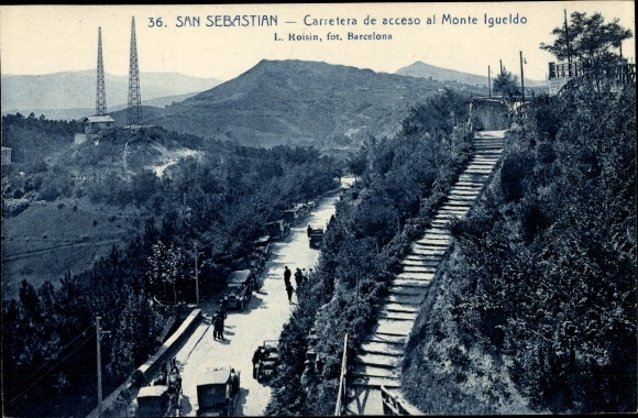 Ak San Sebastian Baskenland, Carretera de acceso al Monte Igueldo