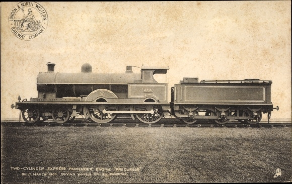 Ak London & North Western Railway, Express Passenger Engine Precursor, Dampflokomotive 513
