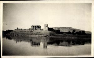 Foto Ak Kom Ombo Ägypten, The Temple seen from the Nile
