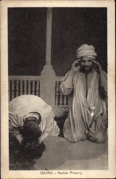 Ak Cairo Kairo Ägypten, Native Praying