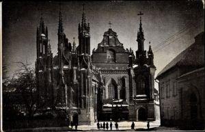 Ak Vilnius Wilna Litauen, Eglise Sainte Anne, Kirche