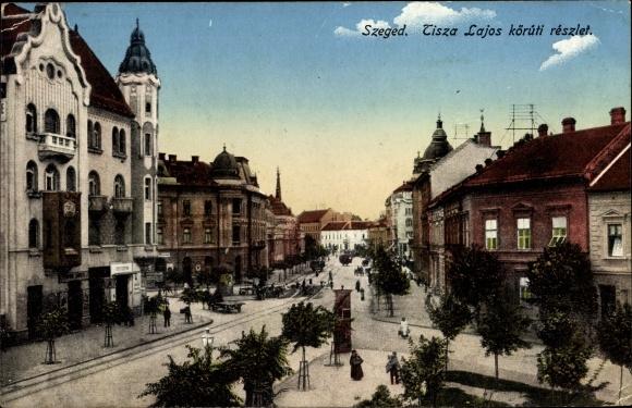 Ak Segedin Szeged Ungarn, Tisza Lajos köruti reszlet