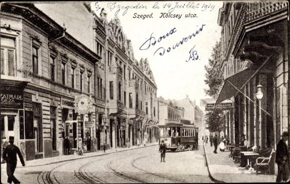 Ak Segedin Szeged Ungarn, Kölcsey utca