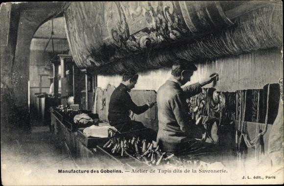 Ak Manufacture des Gobelins, Atelier de Tapis dits de la Savonnerie