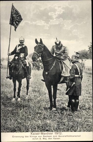 Ak Kaisermanöver 1912, Friedrich August III. von Sachsen, Ernennung zum Generalfeldmarschall
