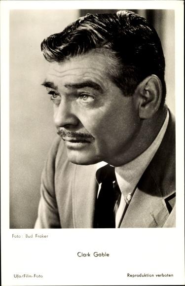 Ak Schauspieler Clark Gable, Portrait, Ufa Film, Es begann in Neapel