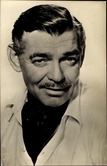 Ak Schauspieler Clark Gable, Portrait, Es begann in Neapel