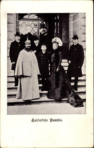 Ak Die Kaiserliche Familie, Kaiser Wilhelm II. von Preußen, Kaiserin Auguste Viktoria