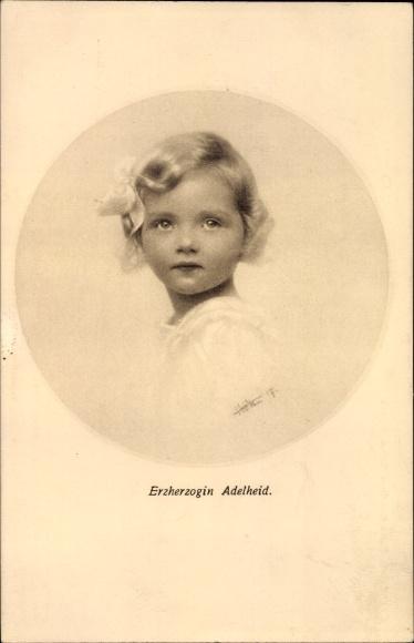 Ak Erzherzogin Adelheid von Habsburg Lothringen, Tochter Kaiser Karl I. von Österreich Ungarn