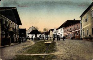 Ak Aistersheim in Oberösterreich, Hofmarkt, Straßenpartie