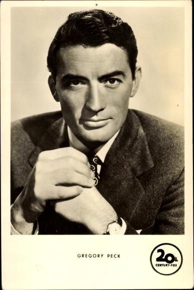 Ak Schauspieler Gregory Peck, Portrait im Anzug, Wer die Nachtigall stört