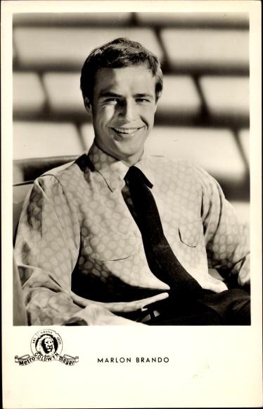 Ak Schauspieler Marlon Brando, Portrait, Der Pate, Julius Caesar