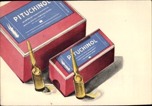 Foto Ak Pituchinol, Glasfläschchen, Relame, Medikament