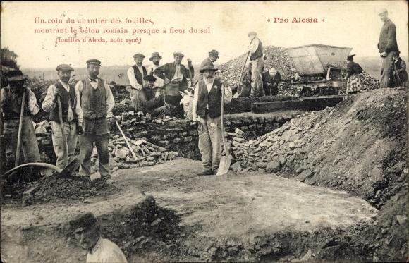 Ak Alise Sainte Reine , Pro Alesia, Ausgrabungsstätte, Römische Überreste, Chantier des fouilles
