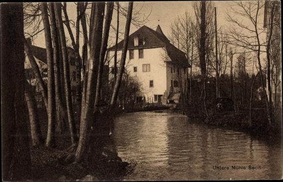 Ak Seon Kt. Aargau Schweiz, Untere Mühle