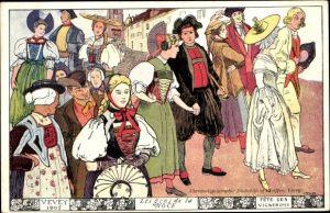 Ak Vevey Kt. Waadt Schweiz, Les gens de la Noce 1905, Fête des vignerons, Trachten