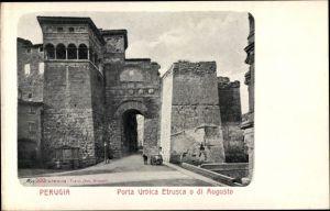 Ak Perugia Umbria, Porta Urbica Etrusca o di Augusto