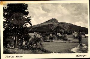 Ak Roll bei Mimoň Niemes Region Reichenberg, Panorama vom Ort