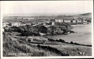 Ak Port Erin Isle of Man North West England, Panorama vom Ort
