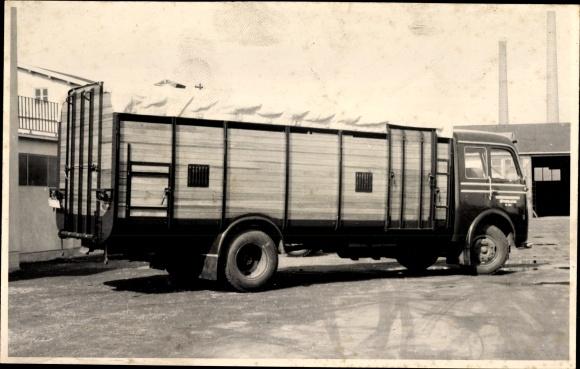 Foto Ak Karosseriebau Schölch, LKW mit umbauter Ladefläche