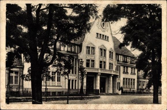 Ak Leverkusen in Nordrhein Westfalen, Fabrik Kasino der IG Farben Industrie AG