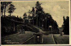 Ak Lutherstadt Eisenach in Thüringen, Wartburgschleife