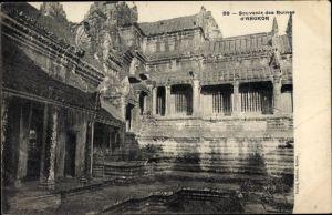 Ak Kambodscha, Angkor Wat, facade des Ruines