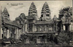 Ak Kambodscha, Angkor Wat, Ruines, vue exterieure du Temple