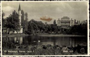Ak București Bukarest Rumänien, Parcul Carol I.