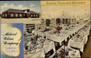 Ak Elmhurst Illinois USA, Midwest China Company, Quality China and Glassware