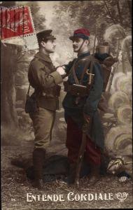 Ak Entende Cordiale, Französischer Soldat, Englischer Soldat