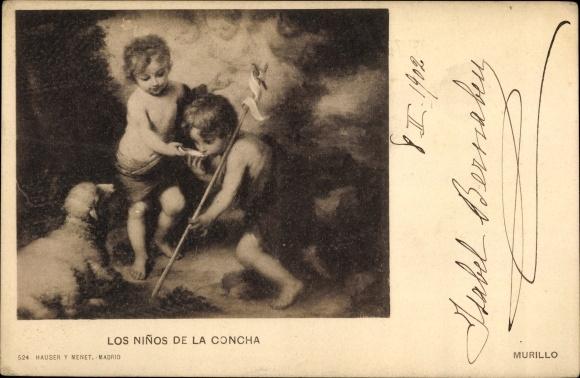 Künstler Ak Murillo, Bartolomé Esteban, Los Ninos de la Concha