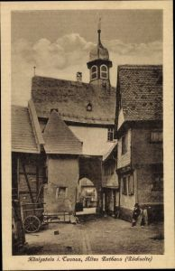 Ak Königstein im Taunus Hessen, Altes Rathaus, Rückseite
