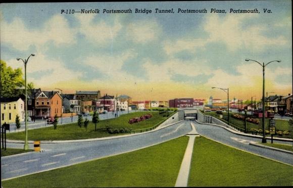 Ak Portsmouth Virginia USA, Norfolk Portsmouth Bridge Tunnel, Portsmouth Plaza